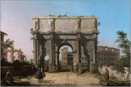 Antonio Canaletto - Arch of Constantine with the Colosseum