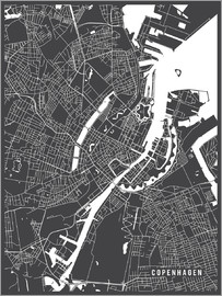 Main Street Maps - Copenhagen Netherlands Map
