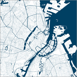 44spaces - COPENHAGEN CITY MAP Q2 indigo