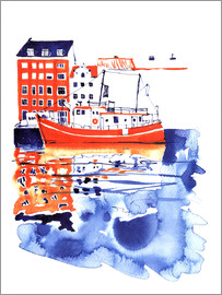 Anastasia Mamoshina - Copenhagen canal and harbour