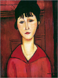 Amedeo Modigliani - Head of a Young Girl