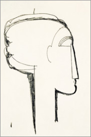 Amedeo Modigliani - Head in Profile