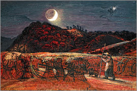Samuel Palmer - Cornfield by Moonlight