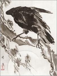 Kawanabe Kyosai - Crow and the Moon