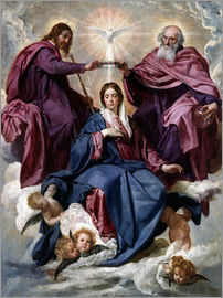 Diego Rodriguez de Silva y Velazquez - Coronation of the Virgin