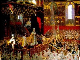 Laurits Regner Tuxen - Coronation of Nicholas II. And Alexandra Fjdorownas