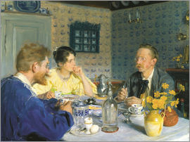 Peder Severin Kroyer - Kroyer, his wife and Otto Benzon