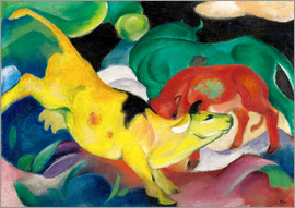 Franz Marc - Cows, yellow, red, green
