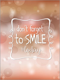 Typobox - Don't forget to smile today