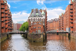Miva Stock - Waterfront warehouses in the Speicherstadt Hamburg