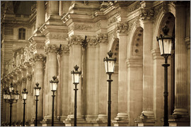 age fotostock - Lamp posts and columns at the Louvre Palace, Louvre Museum, Paris, France.