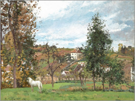 Camille Pissarro - Landscape with a White Horse in a Meadow