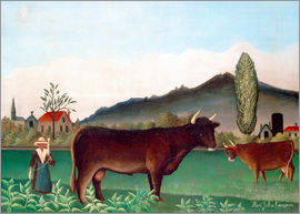 Henri Rousseau - Landscape with Cows