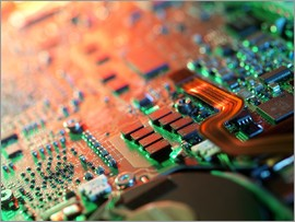 Tek Image - Laptop circuit board