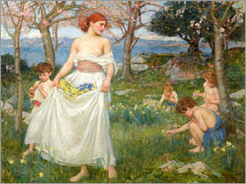 John William Waterhouse - Le Champ du printemps (Spring field)
