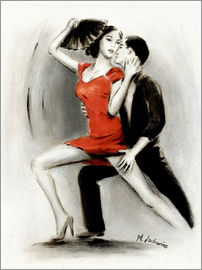 Marita Zacharias - Passionate dance couple Latin American Painting