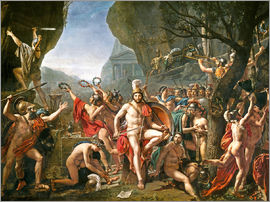 Jacques-Louis David - Leonidas on the Thermopylae