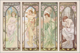 Alfons Mucha - Les heures du jour (Times of the Day)