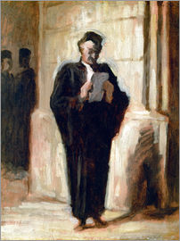 Honoré Daumier - Reading lawyer.