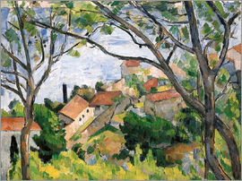 Paul Cézanne - View of L'Estaque Through the Trees