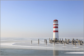 Gerhard Wild - Lighthouse on frozen Lake Neusiedl