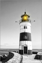 Lighthouse with yellow light