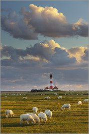 Rainer Mirau - Lighthouse Westerhever, Cumulus clouds