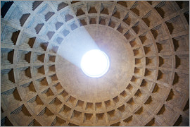 Matteo Colombo - Light passing through the ceiling of Pantheon temple, Rome, Italy
