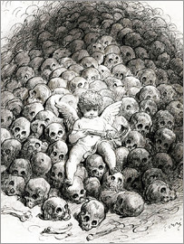 Gustave Doré - Love reflects on Death