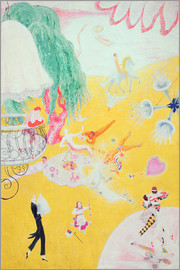 Florine Stettheimer - Love Flight of a Pink Candy Heart