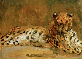 Max Slevogt - Reclining African Leopard