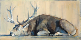 Mark Adlington - Reclining Hirsch