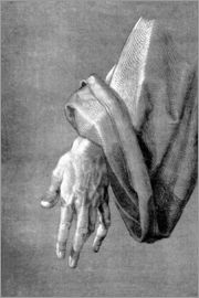 Albrecht Dürer - Left hand of an apostle