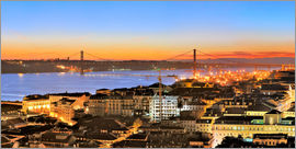 Fine Art Images - Panorama  of Lisbon Portugal