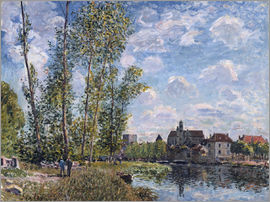 Alfred Sisley - The Loing in Moret in May