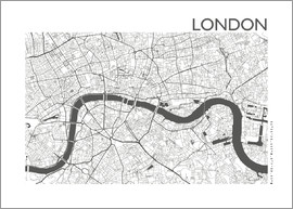 44spaces - LONDON CARD steelgrey