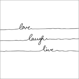 Mareike Böhmer Graphics - Love Laugh Live