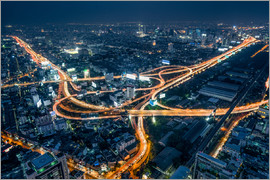 Jan Christopher Becke - Aerial view of Bangkok at night