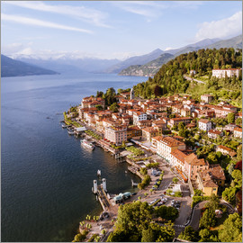 Matteo Colombo - Aerial view of Bellagio on beautiful lake Como