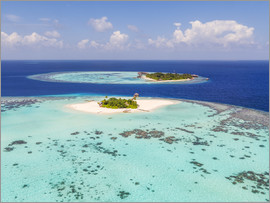 Matteo Colombo - Aerial view of islands in the Maldives