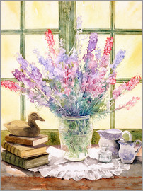 Julia Rowntree - Lupins on Windowsill