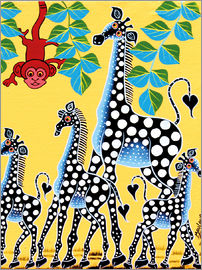 Maulana - Funny monkey with giraffes