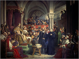 Julius Schnorr von Carolsfeld - Luther at the Diet of Worms, 1521