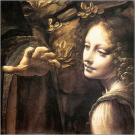 Leonardo da Vinci - Madonna of the rocks (detail)