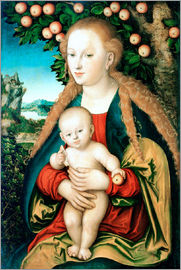 Lucas Cranach d.Ä. - Madonna with child under the apple tree