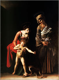 Michelangelo Merisi (Caravaggio) - Madonna with the Serpent