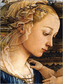Fra Filippo Lippi - Madonna and Child with Two Angels (detail face)