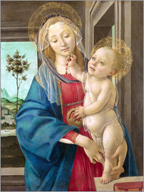 Sandro Botticelli - The Virgin and Child with a Pomegranate