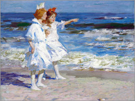 Edward Henry Potthast - Girls on the beach