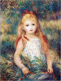Pierre-Auguste Renoir - Girl in a garden